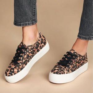 NWOT Steve Madden Leopard Platform Sneakers Sz 10